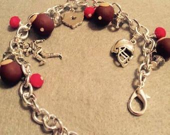Buckeye football charm bracelet
