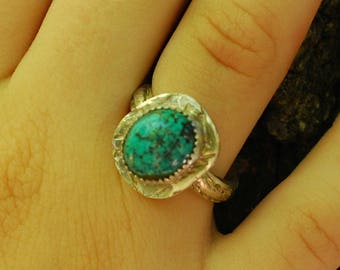 Turquoise Jewelry, Turquoise ring, Sterling Silver ring, Handmade Turquoise ring