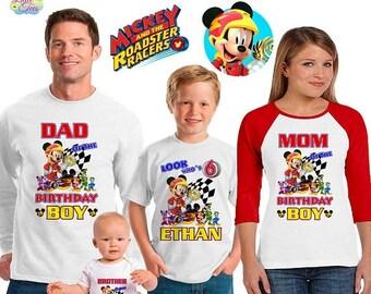 15% Off mickey roadster racers inspired family birthday theme shirt/mickey mouse birthday shirt/Disney vacation shirt/mickey birthday party