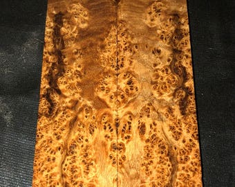 Stabilized Black Ash Burl Knife Scales E-069