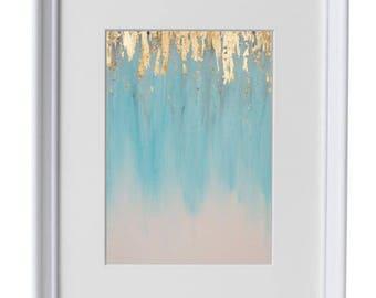 11x14 - Gilded Blue - Art Print