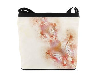 Pastel butterflies, womens sling bag, womens shoulder bag, cross body bag, bags for women, womans purse, womens purses, bags and totes, tote