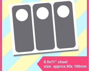 "Instant Download door hanger Template, PSD, PNG, SVG , Dxf Formats,  8.5x11"" sheet,  Printable 166"