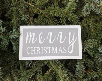 Farmhouse inspired merry Christmas wood sign