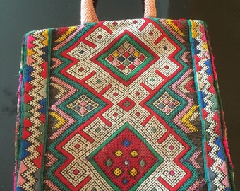 1970's Carpet Tapestry Bag