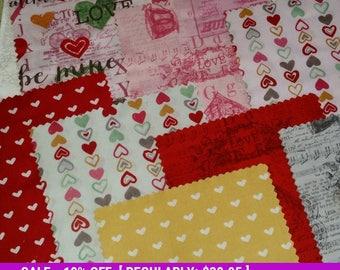 "SALE! Vintage Valentine - Jelly Roll  - Clothworks - (40) 2.5"" x 44/45"" strips"