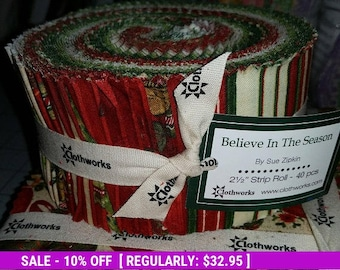 SALE! Believe in the Season - Jelly Roll - Clothworks by Sue Zipkin