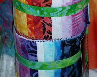 "SALE! Anthology Batiks - Story Strips - (20) 2.5"" Strips - # 2"