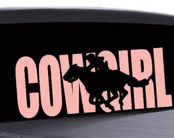 Cowgirl Decal Etsy