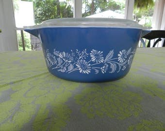 Blue Pyrex Casserole Dish
