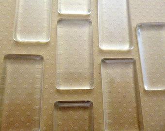 48x24mm-set of 10 cabochons rectangle clear glass 48 x 24 mm - L980