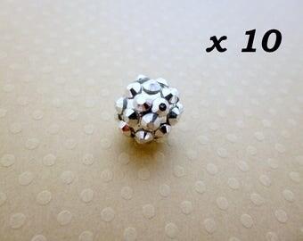 Glass 12 mm Shamballa 10 beads