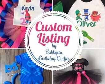 CUSTOM TUTU SET, birthday outfit, tutu costume