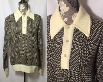 Vintage 1970s / 1930s Style Sweater // L-XL