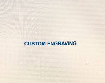 Engraving Add On