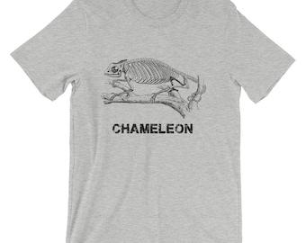 Cool Chameleon Reptile Skeleton  Short-Sleeve Men's T-Shirt