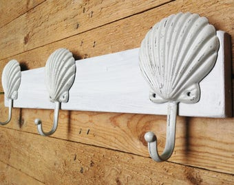 Shell Hook   Coat Rack  ,Beach Towel,  Hat, Purse You Name it Holder