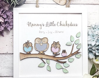 Mother's Day gift, gift for grandma, gift for nanny,  family print, family portrait, gift for grandparents , Mother's Day , gifts under 25