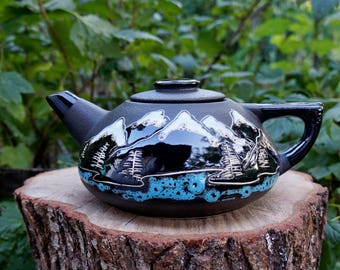 Climber|gift|for|dad from son Gift|for|grandfather Teapot ceramic Teapot mountain gift Mountain art Travel gifts|for|couples traveler gifts