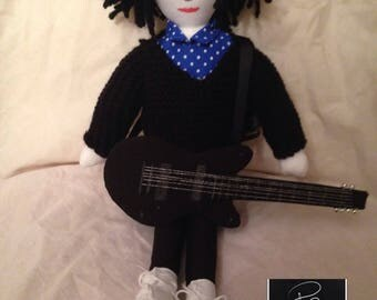 Robert Smith of The Cure  Inspired Fabric Doll