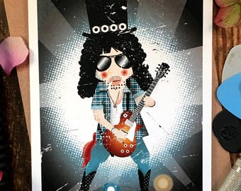 November Rain, Slash (Guns 'N' Roses) Valentines Card, Birthday Card, Greetings Card, Music Card