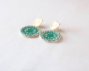 Sicilian ceramic/Sicilian ceramic earrings earrings Monreale-Monreale