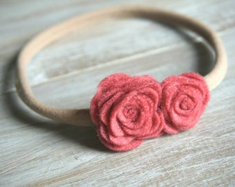 Nylon Felt Flower Headband