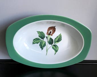 "Taylor, Smith and Taylor King O'Dell (Green)10"" Oval Vegetable Bowl"
