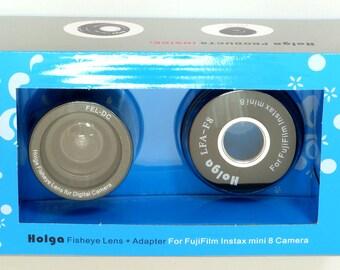 Holga Fisheye Lens w/ Adapter for Fujifilm Instax mini 8 Camera FEL-F8