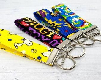 Key Wristlet - Dog Key Fob - Key Ring - Keychain - Tie Dye - Quilted - Gift for Teacher, Dog Lover, Dog Mom, Best Friend, Mom, Pet Sitter