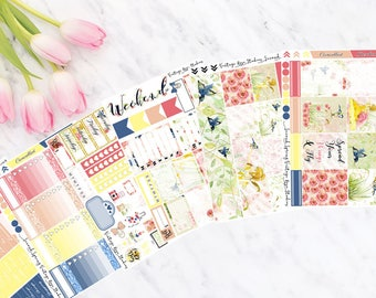 Robyn Vertical Weekly Kit Planner Stickers for Erin Condren LifePlanners