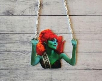 Shrink Plastic Necklace Miss Argentina Inspired Necklace Beetlejuice Inspired Necklace Horror Necklace Scary Necklace Tim Burton Inspired