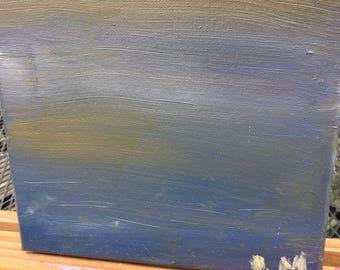 Soft sky-oil paint on canvas