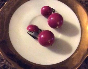 Vintage Clip-On Dangle Earrings
