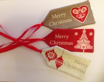 Christmas gift tags/ tree decorations