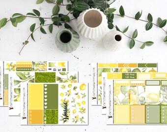 Lemon    Weekly Planner Kit (175+ Stickers)    Erin Condren, Happy Planner, Recollections, No White Space    SeattlekangarooPlans
