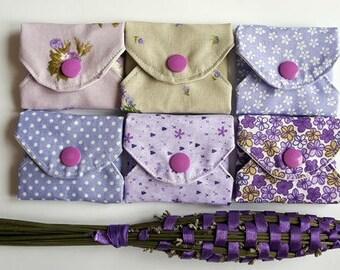 """Reusable cotton pantyliner set """"Lavender dream"""""""