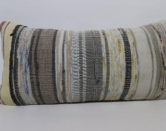 12x24 Bohemian Kilim Pillow Ethnic Pillow 12x24 Cotton Kilim Pillow Handwoven Kilim Pillow Home Decor Boho Pillow Cushion Cover SP3060-1443
