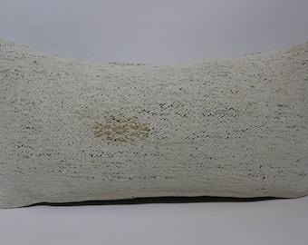 simple colour pillow 12x24 white pillow throw pillow kilim pillow cushion case ethnic pillow home decor lumbar kilim pillow SP3060-1512
