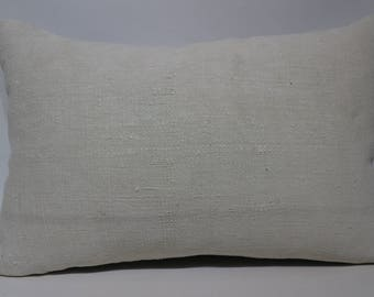 16x24 White Kilim Pillow Turkish Kilim Pillow 16x24 Lumbar Kilim Pillow Handwoven Kilim Pillow Sofa Pillow Cushion Cover  SP4060-1183