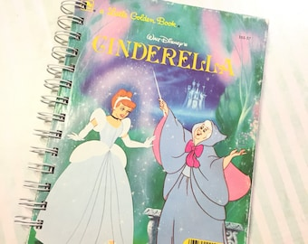Disney Cinderella Book Altered Upcycled Notebook Journal