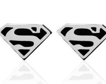 Superman ( Wide) Cufflinks B54  - Free Gift Box