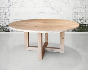 Great Table, Round Table, Dining Table, Reclaimed Wood, Kitchen Table, Handmade,