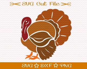 Thanksgiving Turkey SVG / Turkey SVG Cut File / SVG Download / Fall svg / Thanksgiving svg / Autumn Svg Cut File