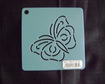 Sashiko Japanese Embroidery Stencil 3 in. Butterfly Motif Block/Quilting
