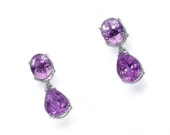 Pink Kunzite Dangle Earrings  ME1730