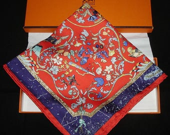 "HERMES silk scarf ""Stones of Eastern and Western"" Hermes Collection"