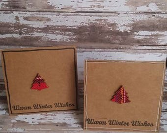 set of 2 Christmas cards
