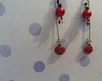 Earring bead and Ladybug pendant