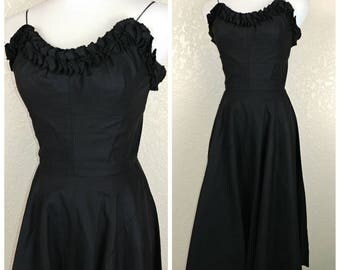 Fantastic Vintage Black Sundress